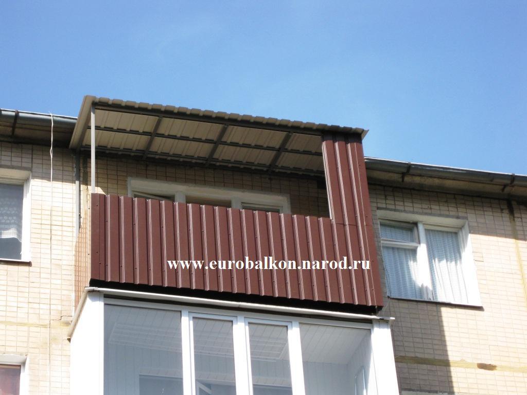 Крыша балкона из профнастила своими руками.