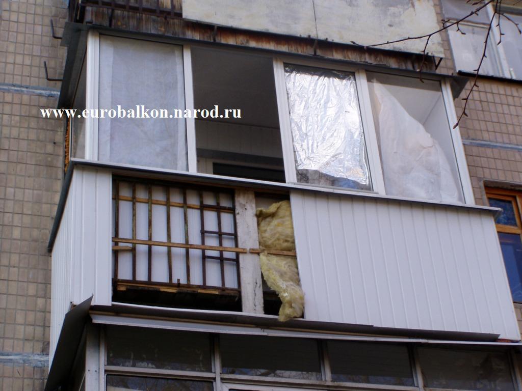 Балкон профнастилом.