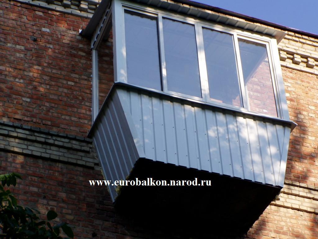 Обшивка косых балконов фото. - ставим балконный блок - катал.