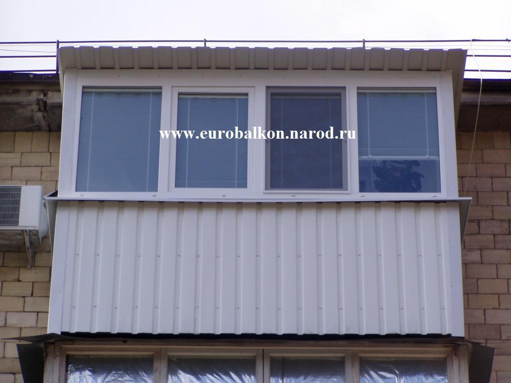 Сделать балкон брежневка с крышей фото..