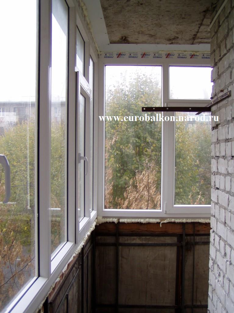 Остекление балконов без внутренней отделки фото.
